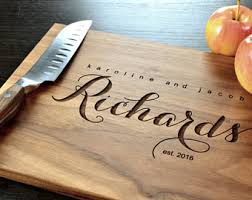 Personalized Cutting Board Custom Wedding Gift Engraved Housewarming