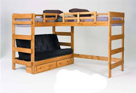 save on hannah twin over full futon bunk bed with twin loft honey