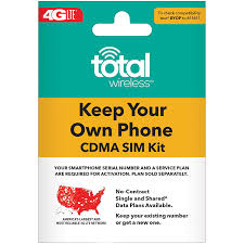 ($25 EGift Card Promotion) Total Wireless Keep Your Own Phone 3-in-1  Prepaid SIM Kit