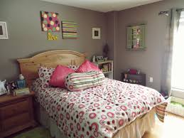 Bedroom Surprising Teenage Girl Room Decor Cheap Pink Bedcover Motif With Pillow And