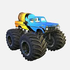 100 Bigfoot Monster Trucks Ford Truck 3D Model