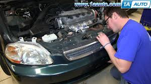 how to install remove front grille 1996 98 honda civic