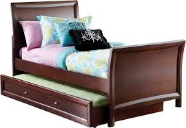 Ivy League Cherry 4 Pc Twin Sleigh Bed w Trundle Trundle Beds