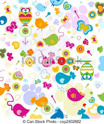 Animals Pattern Seamless Design Fir Kids Clip Art