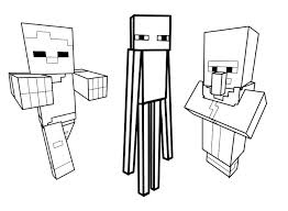 Coloring Page Drawing Inspired By Minecraft 5