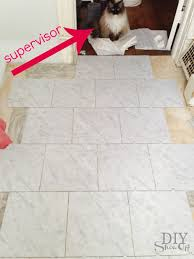 diy grouted vinyl floor tiles diy show off diy decorating