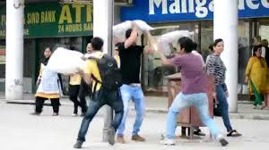 Surprise Pillow Fight Prank