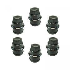 100 Astro Truck Caps Wheel Lug Nut Cap Black Plastic Set Of 6 For Chevrolet GMC Cadillac