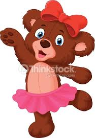 Baby Bear Cartoon Dancing Vector Art