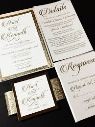 This Listing Is For A Sample Of Layered Wedding Invitation With Glitter Cardstock Backing