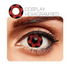 Hexagram Cosplay Red 12 Month Contact Lenses StunningLens
