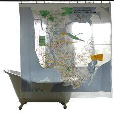 Map Series Shower Curtains NYC Subway Gessato