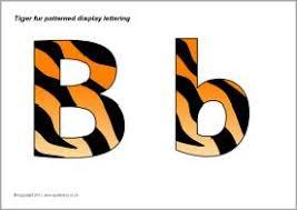 Tiger print display lettering SB4391 SparkleBox