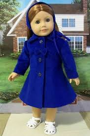 Royal Blue Corduroy Coat And Hat