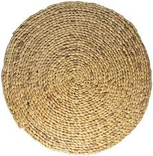 studio tr wasserhyazinthe teppich rund geflochten mit naturfaser jute handmade fair nachhaltig unbehandelt größe s ø 60 cm teppich natur