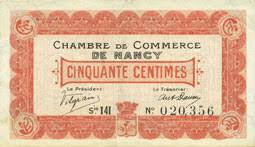 chambre nancy banknotes emergency notes nancy 54 chambre de commerce