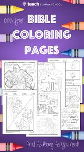 6 Free Printable Bible Coloring Pages Includes Sheets Color By Number