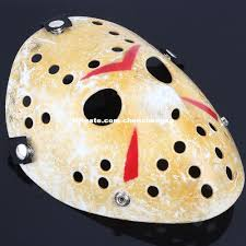 Halloween Half Masks by Jason Masksmovie Gold Vintage Voorhees Freddy Hockey Festival