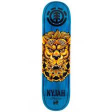 element nyjah huston bloomed skateboard deck 7 75