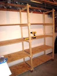 Build Wood Garage Shelf by Diy Basement Shelving Basement Shelving Wood Grain And Shelving