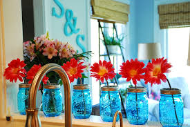 Blue Ball Jar Kitchen Decor 10