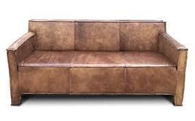 casa padrino vintage luxus echtleder lounge sofa braun 185 cm luxus wohnzimmer leder möbel büffelleder
