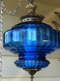 Fenton Blue Fairy Lamp by Cobalt Blue Glass Swag Lamp U2026 Pinteres U2026