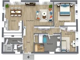 2 Bedroom Home Plans Colors Floor Plan Services Roomsketcher