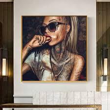 cooles poster mädchen bilder leinwand malerei