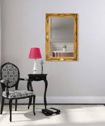 goldener shabby chic wandspiegel 90 x 60 cm handgefertigter spiegel barock massivholz antik gold