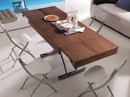 salle de séjour table basse relevable idee originale bois table