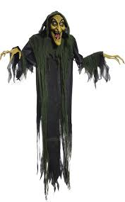 Scary Halloween Props For Haunted House by Amazon Com Hanging Witch 72 Inches Animated Halloween Prop