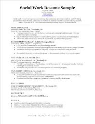 Social Work Resume Main Image
