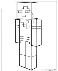 Alex From Minecraft Coloring Pages