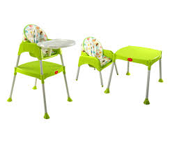 3 In 1 Baby High Chair – Green – LuvLap