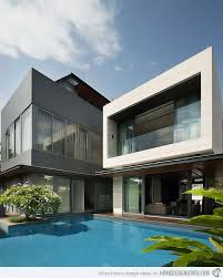 Images Front Views Of Houses by Contemporary Travertine House In Serangoon Singapore Home