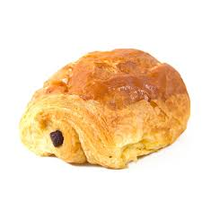 Download Pain Au Chocolat In A White Background Stock Image