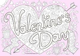Valentines Day Doodle Colour Pop Colouring Page