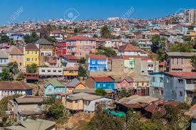 100 Houses In Chile Colorful On Hills Of Valparaiso Stock Photo Picture