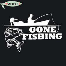 25.4*17 CM Gone Fishing Decals For Car Body And Bumper Window Pvc ... 2 Fish Skeleton Decals Car Sticker Fishing Boat Canoe Kayak Rodfather Funny Vancar Jdm Vw Dub Vag Euro Vinyl Decal Tancredy Go Stickers And Bumper Bass Truck Wall Window 1pc High Quality 15179cm Id Rather Be Fly Angler Vinyl Decal Fly Fishing Sticker Ice Hell When Freezes Over Ill Visit To Buy 14684cm Is Good Bruce Pinterest 2018 Styling Daiwa Brand And For Hooked On Outdoor Life Camping