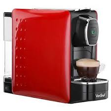 Image Is Loading VonShef Red Coffee Pod Machine Espresso Maker For