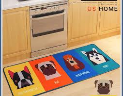 HOT Dog Print Carpet Tapete Strip Floor Mat Absorbent Door Non Slip Mats Bedside Blanket For Kitchen Bathroom Room Alfombras