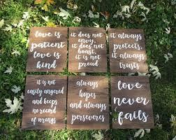 Set Of 6 Corinthians 13 Signs