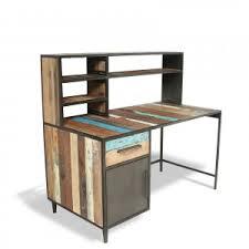 bureau loft industriel bureaux de style industriel en bois et métal bureaux en teck