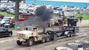 100 Military Semi Truck 2018 EXHIBITION MILITARY SEMI TRUCK PULLS 1 TRADITIONAL YouTube