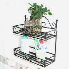 Wrought Iron Double Towel Rack Bathroom Accessories Shelves