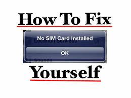 Fix No Sim Installed and No Service Error Message iPhone iPad