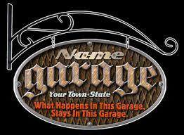 Unique Personalized Garage Sign Garage Shop Personalized