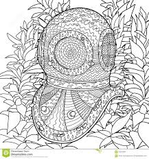 Royalty Free Vector Download Divers Helmet In Coloring Pages For Adults