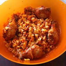 pate a la tunisienne pâtes tunisienne au poulet recette de pâtes tunisienne au poulet